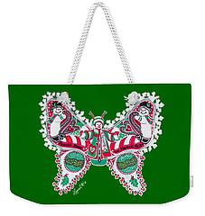 December Butterfly Weekender Tote Bag