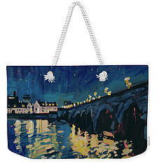December Lights At The Old Bridge Weekender Tote Bag