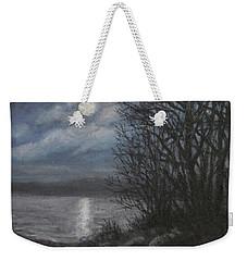 December Moonlight Weekender Tote Bag