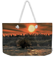 December Sun #f3 Weekender Tote Bag