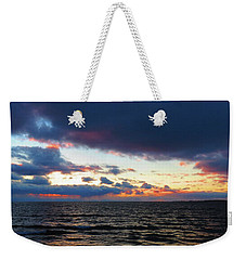 December Sunset, Wolfe Island, Ca. View From Tibbetts Point Lighthouse Weekender Tote Bag