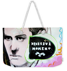 Weekender Tote Bag featuring the photograph Decisive Moment by Art Block Collections