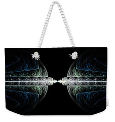 Weekender Tote Bag featuring the digital art Deco And Diamonds by Lea Wiggins