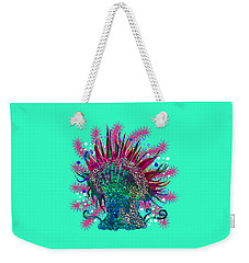 Weekender Tote Bag featuring the digital art Deco Anemone by Adria Trail