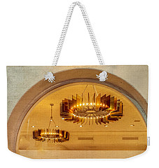 Weekender Tote Bag featuring the photograph Deco Arches by Melinda Ledsome