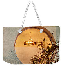 Weekender Tote Bag featuring the photograph Deco Circles by Melinda Ledsome