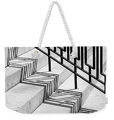 Weekender Tote Bag featuring the photograph Deco Shadow by Rona Black