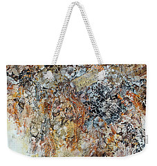 Weekender Tote Bag featuring the painting Decomposition  by Joanne Smoley