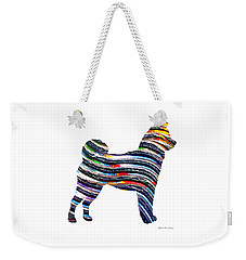 Decorative Husky Abstract O1015b Weekender Tote Bag