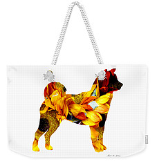 Decorative Husky Abstract O1015g Weekender Tote Bag