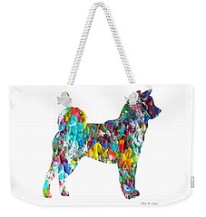Decorative Husky Abstract O1015h Weekender Tote Bag