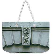 Weekender Tote Bag featuring the photograph Decorative Keystone Architecture Details K by Jacek Wojnarowski