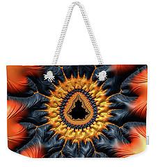 Weekender Tote Bag featuring the digital art Decorative Mandelbrot Set Warm Tones by Matthias Hauser