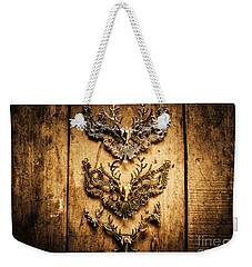 Decorative Moose Emblems Weekender Tote Bag