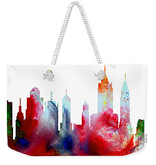 Decorative Skyline Abstract New York P1015c Weekender Tote Bag