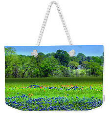 Decorative Texas Homestead Bluebonnets Meadow Mixed Media Photo H32517 Weekender Tote Bag