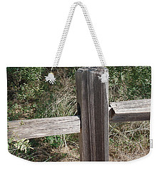 Weekender Tote Bag featuring the photograph Decorative View - Central Texas Fence Line by Ray Shrewsberry