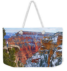 Weekender Tote Bag featuring the photograph Deep And Wide by Roberta Byram