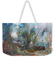 Weekender Tote Bag featuring the painting Deep Danger by Miroslaw  Chelchowski