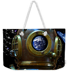 Deep Diver In Delirium Of Blue Dreams Weekender Tote Bag