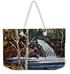 Deep Forest Waterfall Weekender Tote Bag