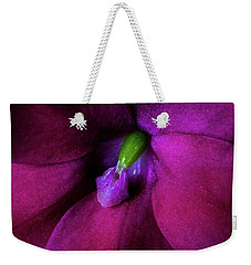 Weekender Tote Bag featuring the photograph Deep Inside by Jay Stockhaus