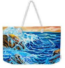 Weekender Tote Bag featuring the painting Deep by Jenny Lee