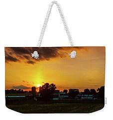 Deep Orange Farm Weekender Tote Bag