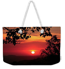 Deep Orange Sunset Weekender Tote Bag by Ellen O'Reilly
