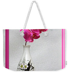 Weekender Tote Bag featuring the photograph Deep Pink  Orchids by Linda Phelps
