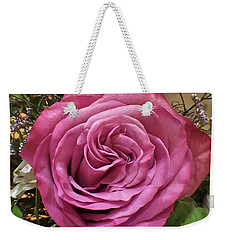 Deep Pink Rose Weekender Tote Bag by Jim Harris