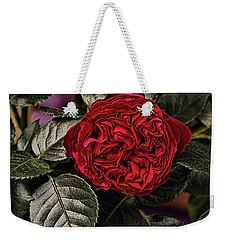 Deep Red Rose Weekender Tote Bag