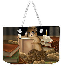 Weekender Tote Bag featuring the painting Deep Study by Veronica Minozzi