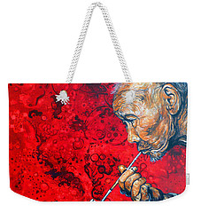 Weekender Tote Bag featuring the painting Deep Thoughts by Tom Roderick