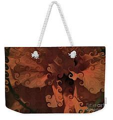 Deep Wine Curlicue Hibiscus Weekender Tote Bag