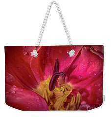 Weekender Tote Bag featuring the photograph Deep Within by Judy Hall-Folde