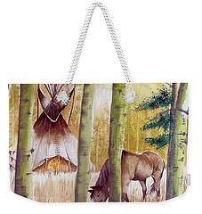 Deep Woods Camp Weekender Tote Bag by Jimmy Smith