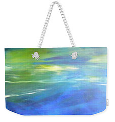 Weekender Tote Bag featuring the painting Deeper And Deeper by Mary Sullivan