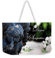 Weekender Tote Bag featuring the photograph Deepest Sympathies Angel by Shelley Neff