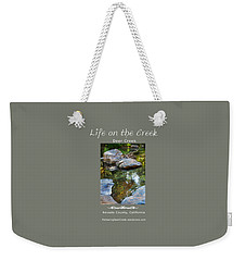 Deer Creek Point - White Text Weekender Tote Bag