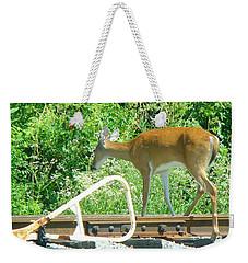 Deer Crossing Weekender Tote Bag by J R Seymour
