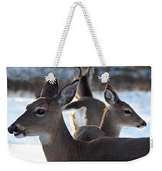 Deer Family Weekender Tote Bag