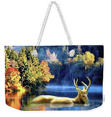 Deer In Autumn Weekender Tote Bag
