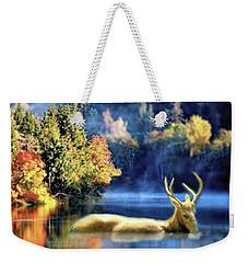 Deer In Autumn Weekender Tote Bag