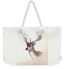 Deer In Ink Weekender Tote Bag