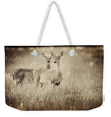 Deer In Sepia Weekender Tote Bag