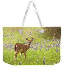 Deer In The Bluebonnets Weekender Tote Bag