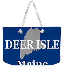 Weekender Tote Bag featuring the photograph Deer Isle Maine State City And Town Pride  by Keith Webber Jr
