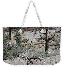 One Deer On A Dry Mountain Weekender Tote Bag