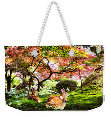 Deer Relaxing In A Meadow Weekender Tote Bag